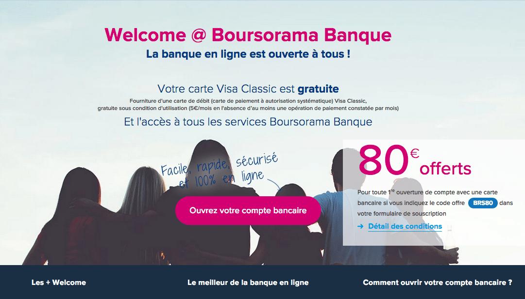 e-carte bleue Boursorama